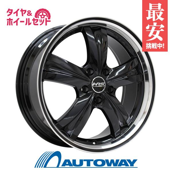 205/50R17 サマータイヤ タイヤホイールセット  HRS CLASSIC H-C46 17x7 +45 114.3x5 BK/PJ + HF805 【送料無料】 (205/50/17 205-50-17 205/50-17) 夏タイヤ 17インチ