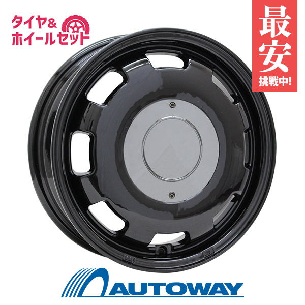 155/65R13 サマータイヤ タイヤホイールセット  LUMACA MODEL-1 13x4 +42 100x4 BLACK + DX240 【送料無料】 (155/65/13 155-65-13 155/65-13) 夏タイヤ 13インチ