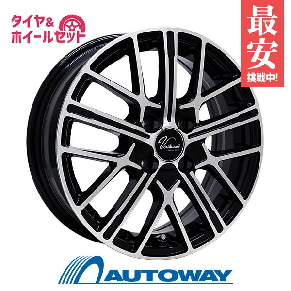195/45R16 サマータイヤ タイヤホイールセット  Verthandi YH-S15 16x6.5 +45 100x4 BK/POLISH + Rivera Pro 2 【送料無料】 (195/45/16 195-45-16 195/45-16) 夏タイヤ 16インチ