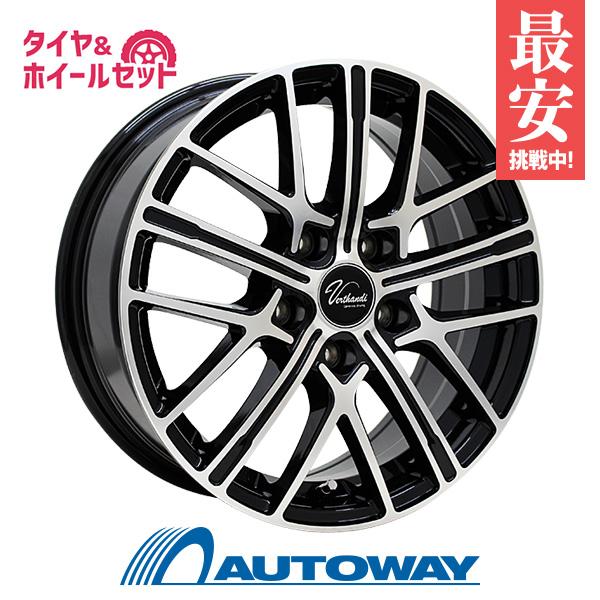 225/50R16 サマータイヤ タイヤホイールセット Verthandi YH-S15 16x6.5 +45 114.3x5 BK/POLISH + HF805 【送料無料】 (225/50/16 225-50-16 225/50-16) 夏タイヤ 16インチ
