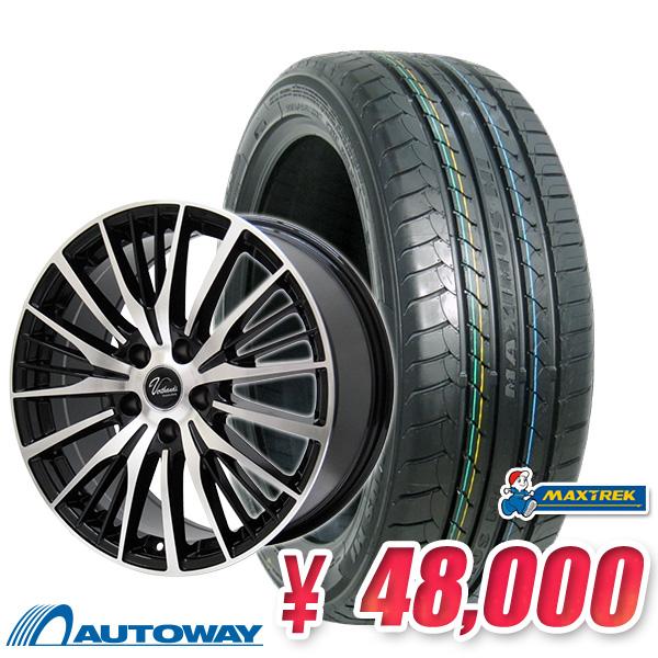 205/60R16 サマータイヤ タイヤホイールセット 【送料無料】 Verthandi YH-S25 16x6.5 50 114.3x5 BK/POLISH + MAXTREK MAXIMUS M1 205/60R16 92H (205/60/16 205-60-16) 夏タイヤ 16インチ