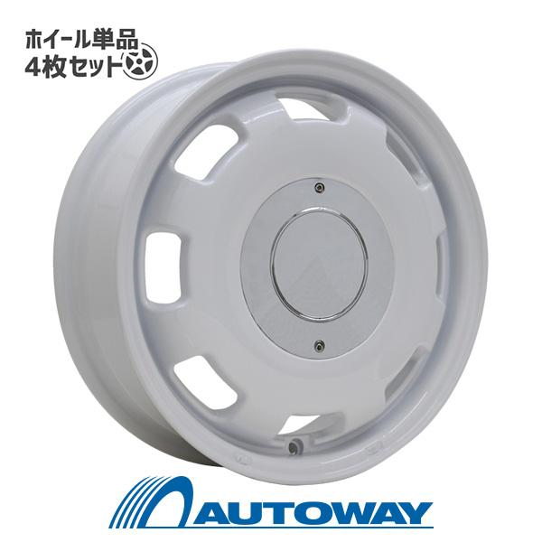 【4枚セット】 LUMACA MODEL-1 14x4.5 +45 100x4 WHITE インチサイズ:14インチ リム幅:4.5 インセット:+45