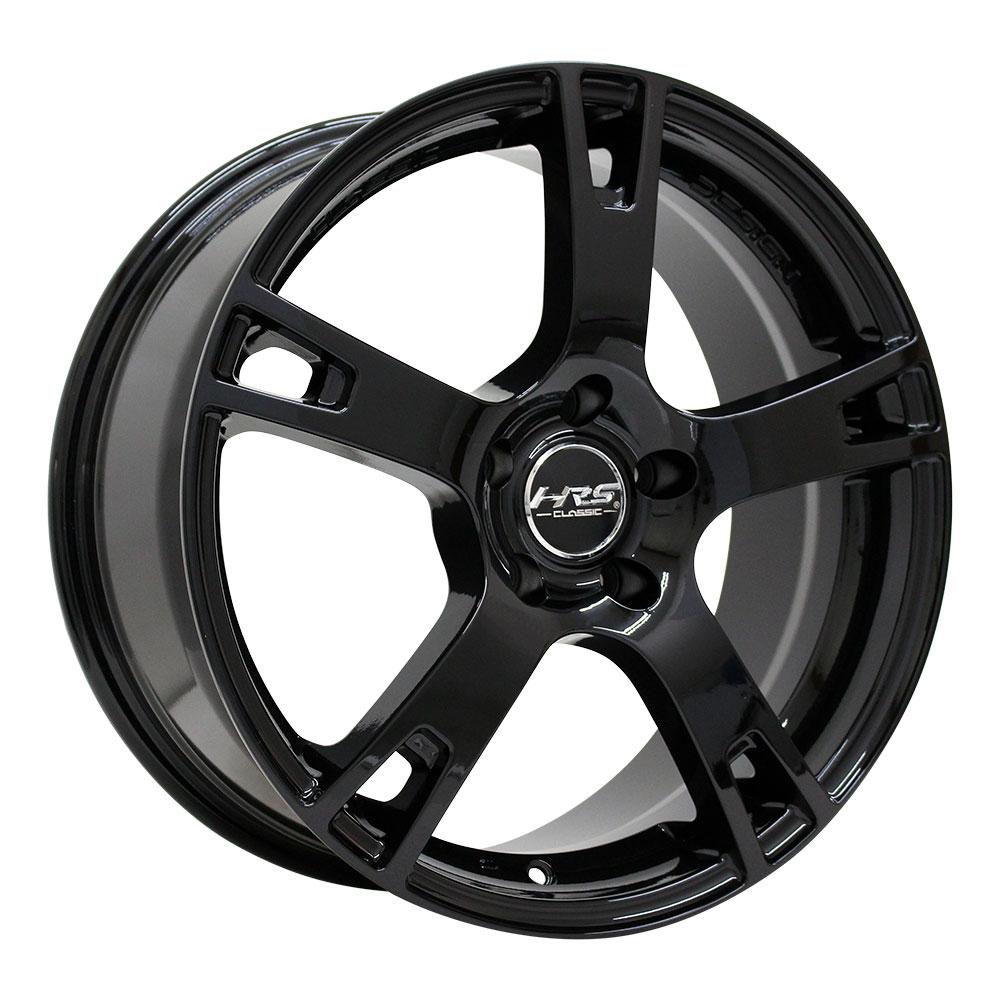 225/60R18 サマータイヤ タイヤホイールセット  HRS CLASSIC H-C21 18x8 +45 114.3x5 BK + HP801 【送料無料】 (225/60/18 225-60-18 225/60-18) 夏タイヤ 18インチ