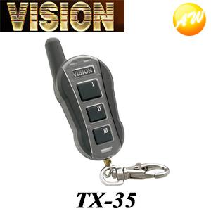 TX-35 ご予約品 カーセキュリティーメーカー キラメック VISION 株式会社キラメック 送料無料激安祭 対象本体 コンビニ受取不可 リモコン 1350 ビジョン