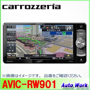 カロッツェリア 楽NAVI AVIC-RW9017V型 VGAモニター 200mmモデルAV一体型メモリーナビ