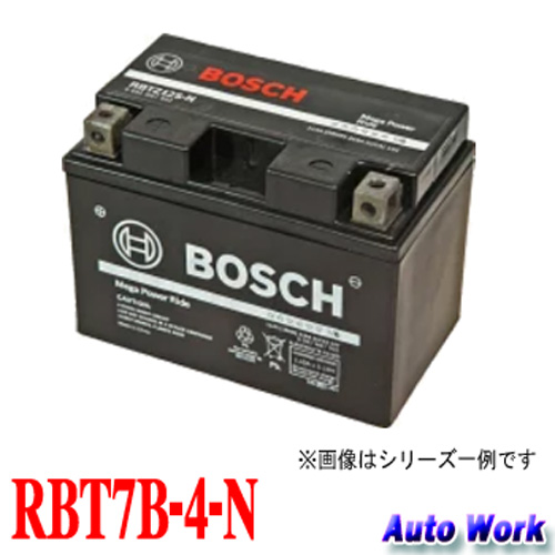 ボッシュ バイク用バッテリー RBT7B-4-N メガパワーライド 1年2万キロ保証 互換 GT7B-4 FT7B-4 2輪車用シールドバッテリー