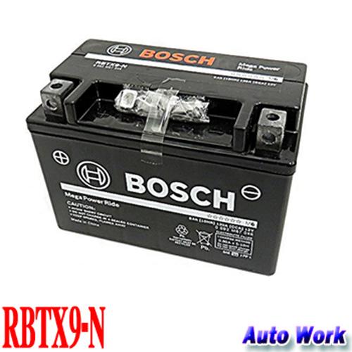 ボッシュ バイク用バッテリー RBTX9-N メガパワーライド 1年2万キロ保証 適合 YTX9-BS FTX9-BS 2輪車用シールドバッテリー
