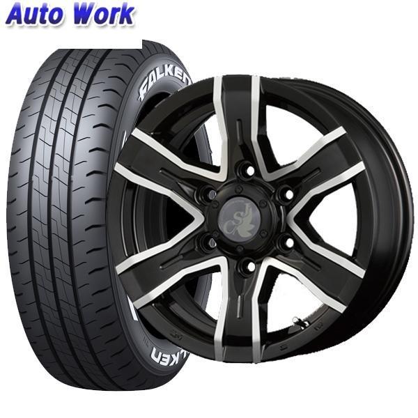 新品タイヤ 4本セット Weds ウェッズ JSV VIPER 6J-15 +30 6H 139.7 ファルケン W11 195/80R15 107/105N サマータイヤ 夏