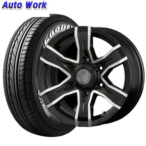 新品タイヤ 4本セット Weds JSV VIPER 6J-15 +30 6H 139.7 グッドイヤー EAGLE #1 NASCAR イーグル ナンバーワン ナスカー 195/80R15 107/105L サマータイヤ 夏