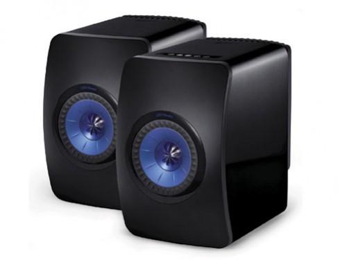 LS50 Wireless [B:グロスブラック/ブルー] KEF [ケーイーエフ] スピーカー [ペア]  Bluetooth/Wi-Fi対応