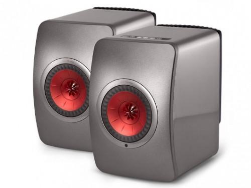 LS50 Wireless [G:チタングレイ/レッド] KEF [ケーイーエフ] スピーカー [ペア]  Bluetooth/Wi-Fi対応