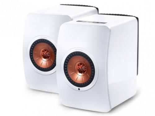 LS50 Wireless [W:グロスホワイト/コッパー] KEF [ケーイーエフ] スピーカー [ペア]  Bluetooth/Wi-Fi対応