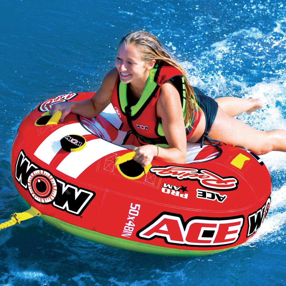 バナナボート トーイングチューブ 1人乗り マリンスポーツ WOW ワオ ACE RACING エースレーシング 1人乗り