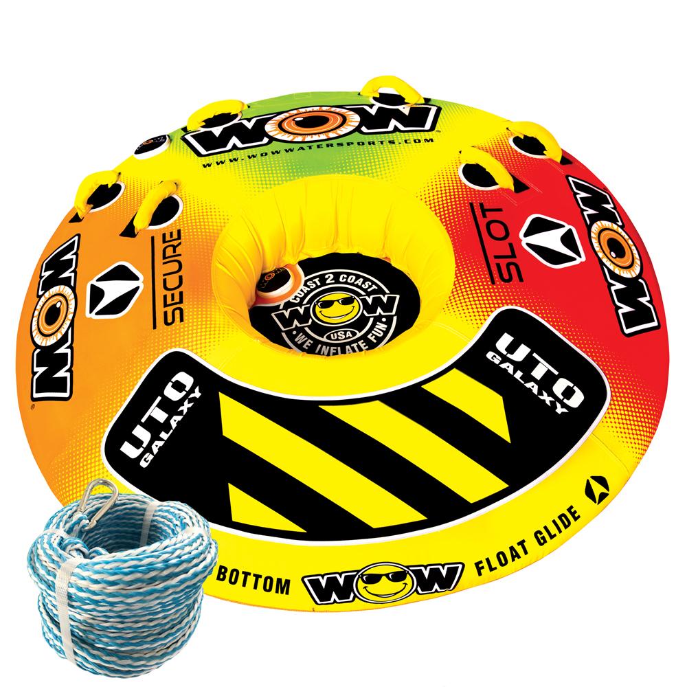 トーイングチューブ バナナボートWOW (ワオ) UTO ギャラクシー 1 - 2人乗り 2点セット ロープ付