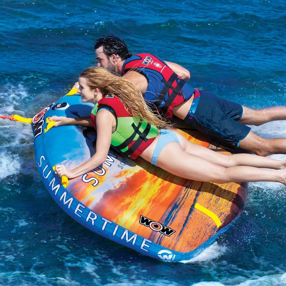 バナナボート トーイングチューブ 2人乗り マリンスポーツ WOW (ワオ) サマータイム