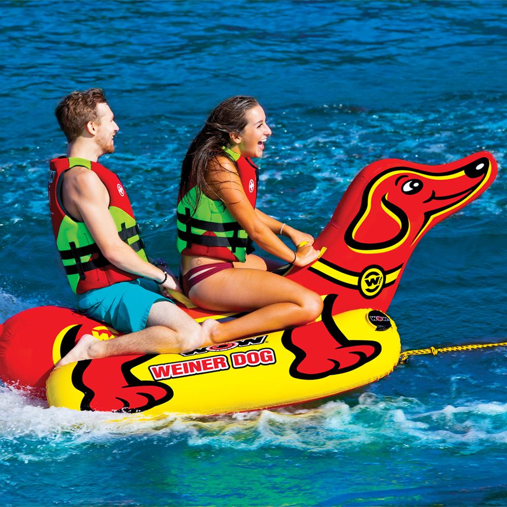 バナナボート トーイングチューブ 2人乗り マリンスポーツ WOW (ワオ) ウインナードッグ 2人乗り