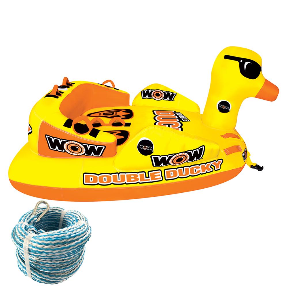 トーイングチューブ バナナボート WOW (ワオ) ダブルダッキー 2点セット ロープ付 2人乗り 【ss0604】