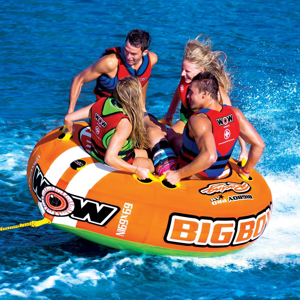 トーイングチューブ バナナボート 4人乗り マリンスポーツ WOW (ワオ) ビッグボーイレーシング 4人乗り
