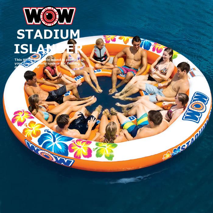 浮き輪 フローター プール ビーチ 大人数 12人乗りWOW ワオ スタジアムアイランダー