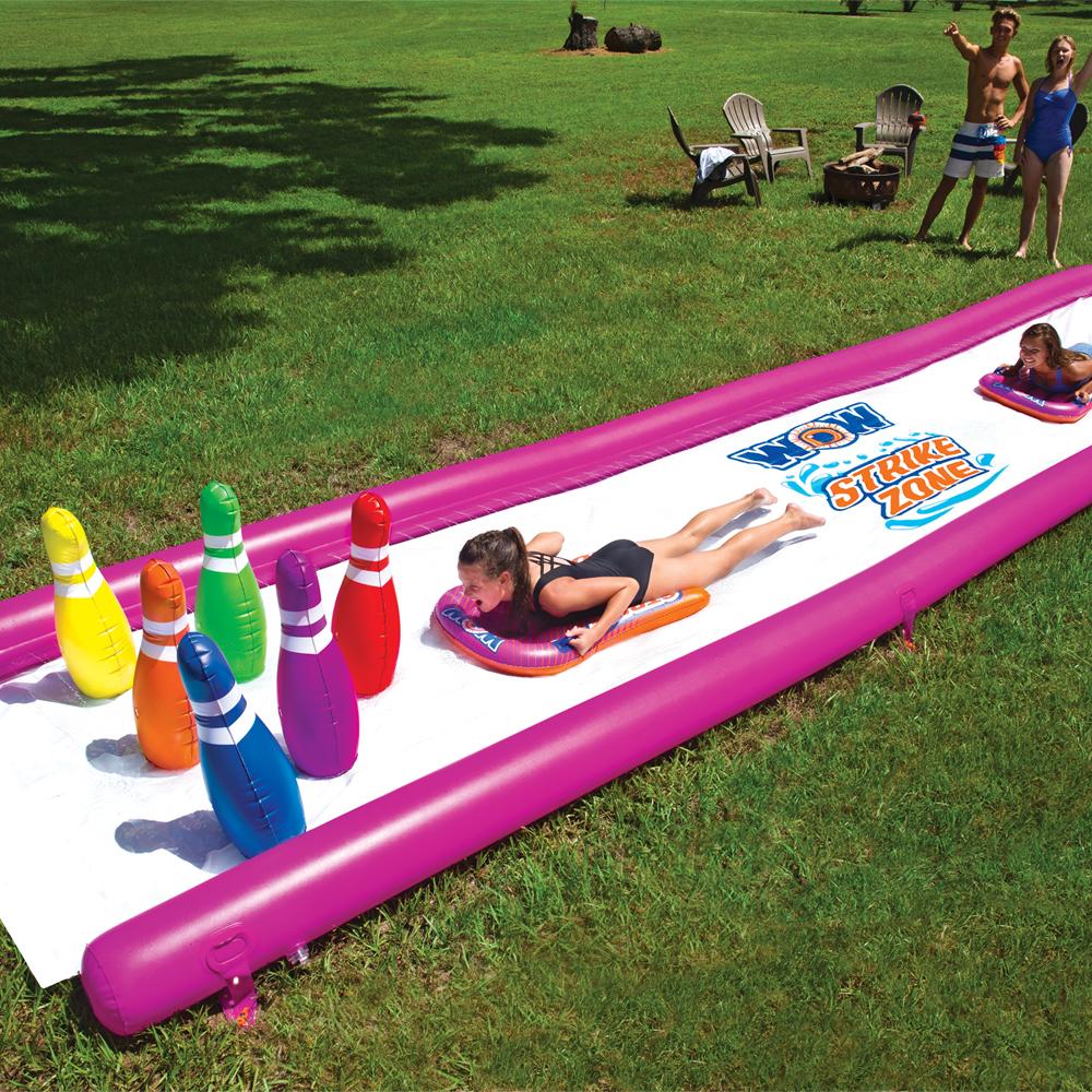 プール スライダー ウォーターパーク 芝生 WOW (ワオ) ストライクゾーン ウォータースライド 25×6ft
