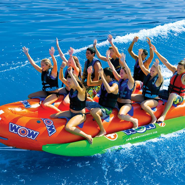 SEAL限定商品 10人乗り バナナボート ウォータートイ トーイングチューブ 人気 送料無料 マリンスポーツ ワオ WOW バウ ウォータースレッド クローズド