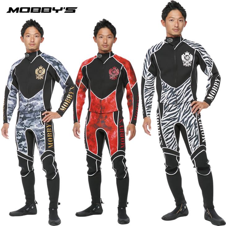 ウエットスーツ メンズ 2ピース ロングジョン ジャケット タッパー MOBBY'S モビーズ コンバット 2ピース ウエットスーツ メンズ