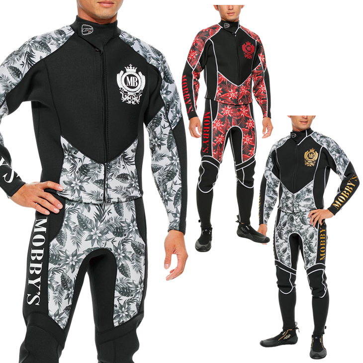 ウエットスーツ メンズ 2ピース ジャケット ロングジョン MOBBY'S モビーズ コンバット 2ピース ウエットスーツ メンズ