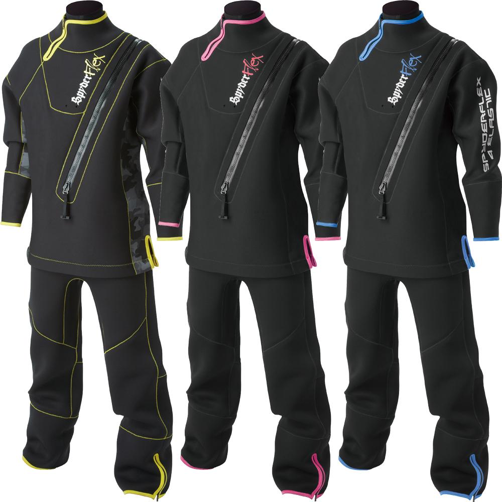 ドライスーツ アンクルタイプ ウェイクボード ジェットスキー 防水 防寒 SPYDERFLEX (スパイダーフレックス) ウエット ドライスーツ