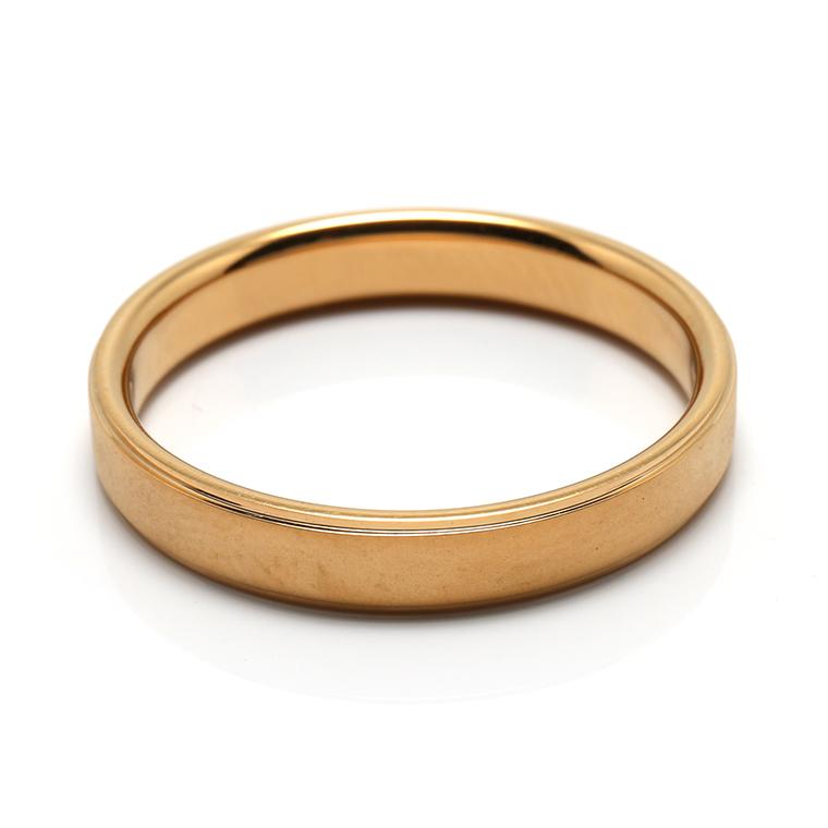 【マリッジリング(結婚指輪):メンズ】18Kイエローゴールドリング※ホーニング加工 KSIMA-005M ※4週間前後でお届け