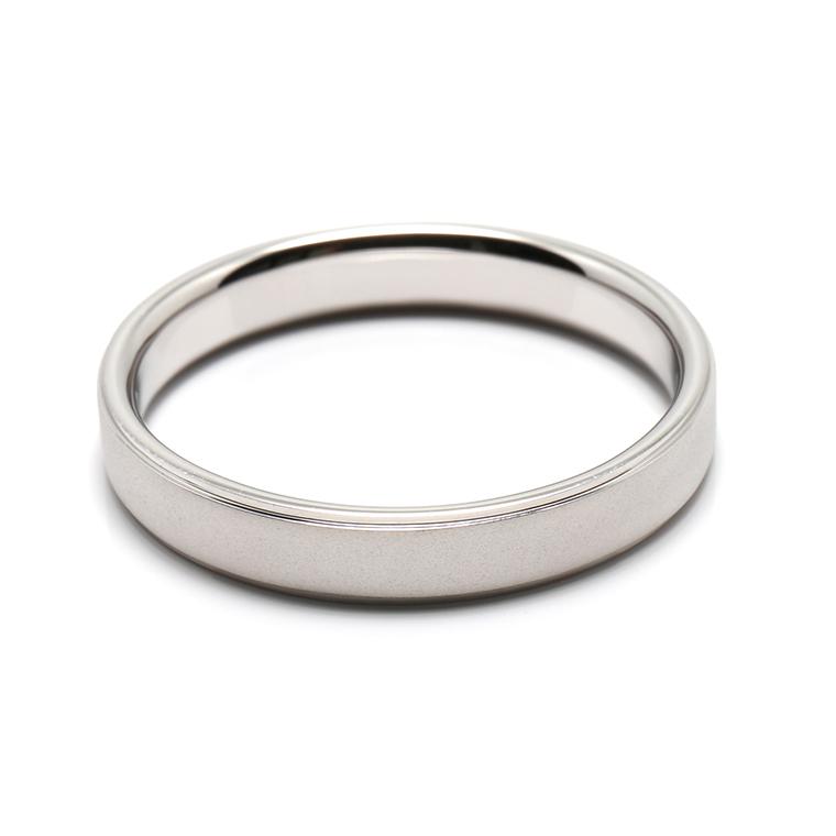 【マリッジリング(結婚指輪):メンズ】プラチナリング※ホーニング加工 KSIMA-005M ※4週間前後でお届け