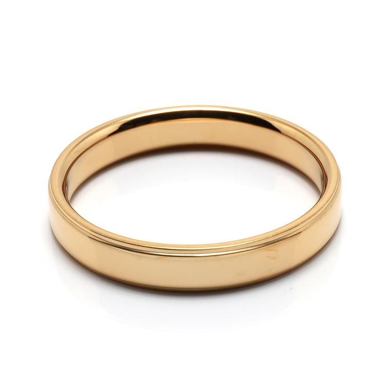 【マリッジリング(結婚指輪):メンズ】18Kイエローゴールドリング※鏡面加工 KSIMA-004M ※4週間前後でお届け