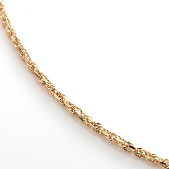 10K イエローゴールドネックレス (45cm×1.5mm)ツインクル