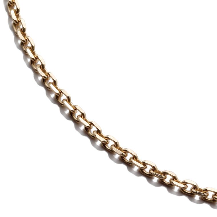 10K イエローゴールドアズキネックレス (40cm) アズキ0.4