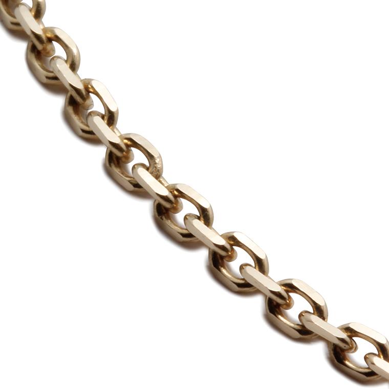 10K イエローゴールドアズキネックレス (45cm) アズキ0.4