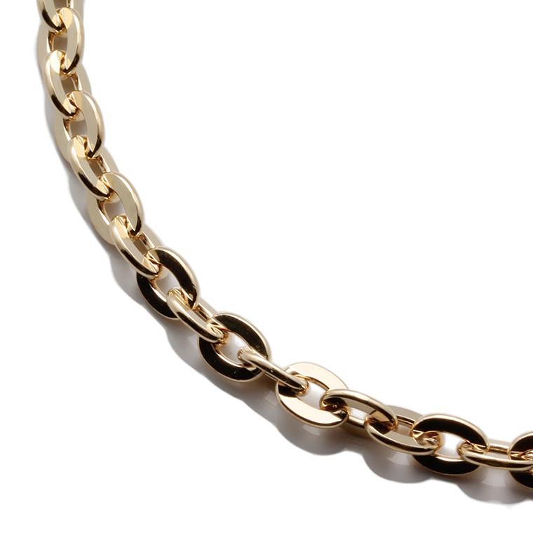 10K イエローゴールドネックレス (60cm) AJ18 クロスケーブル0.5