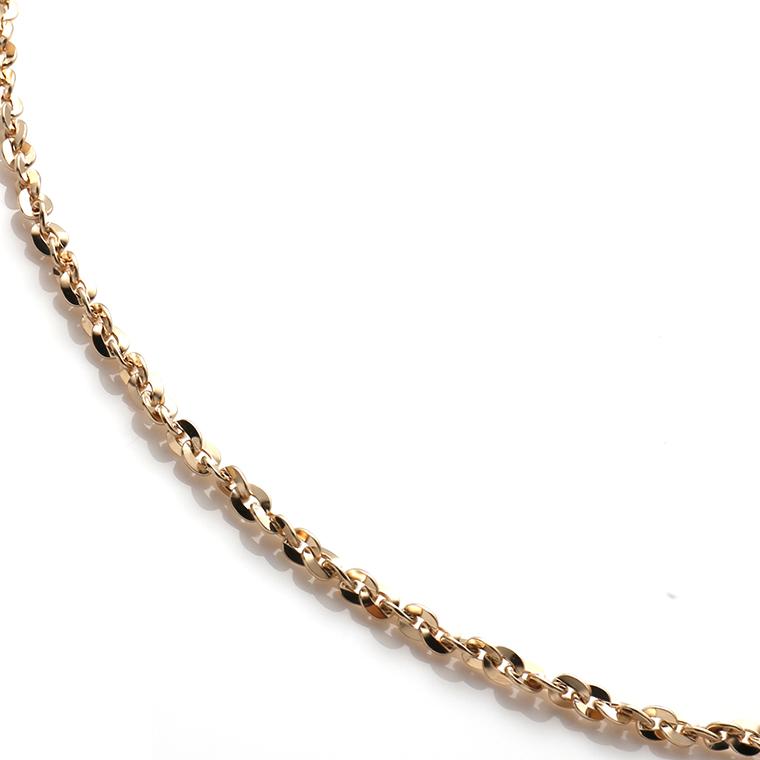 10K イエローゴールドネックレス (50cm×2mm) 250A2SFN