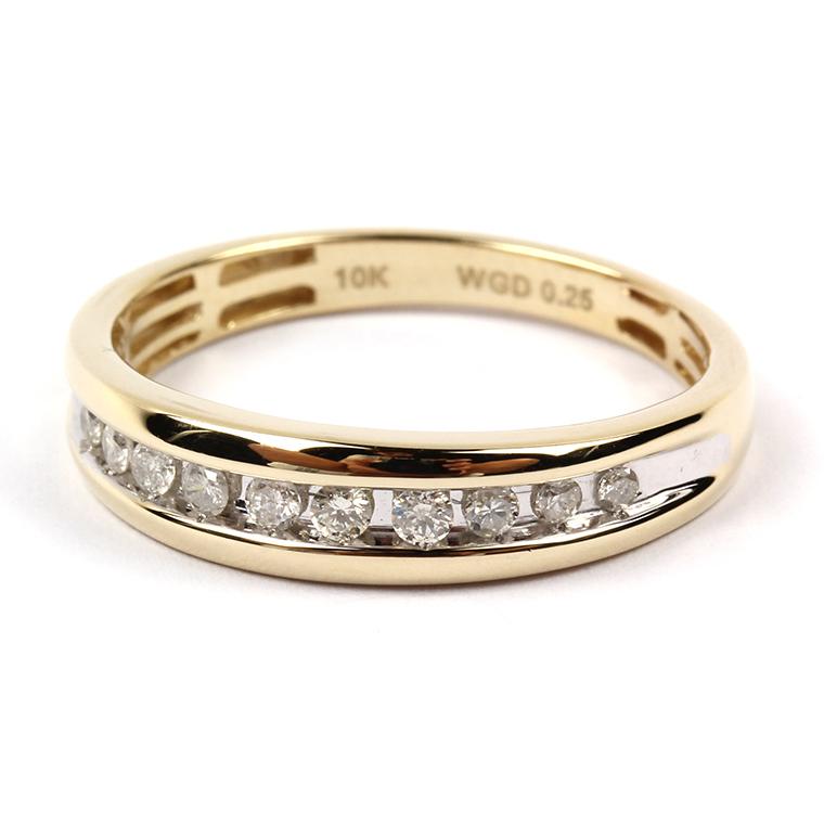 ダイヤモンド 10K イエローゴールドリング 0.25ct SIZE: 22号 WGEOQ4819