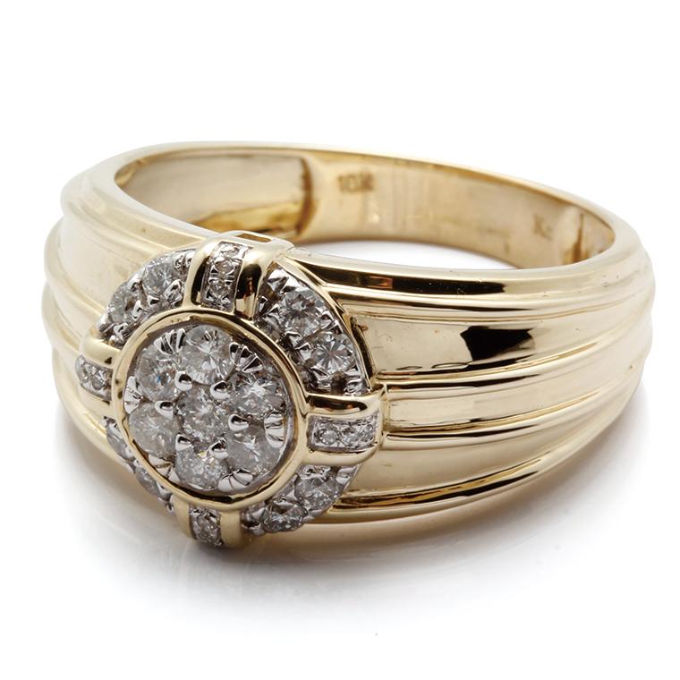 ダイヤモンド 10K イエローゴールドリング 0.55ct SIZE: 22号SJ18 SR02308