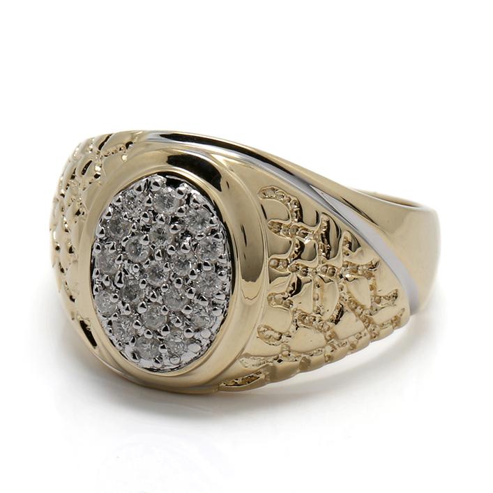 ダイヤモンド 10K イエローゴールドリング 0.25ct SIZE: 10号・17号・19号 0329177-YG