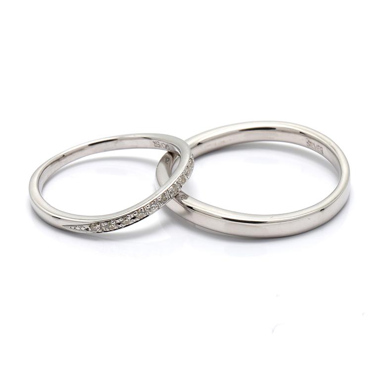 【BRIDAL A】 ※4週間前後でお届けダイヤモンド プラチナ900リング 0.06ct -レディースデザイン-