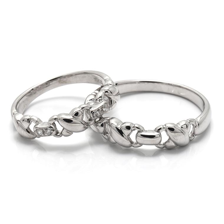 【BRIDAL G】 ※4週間前後でお届けダイヤモンド プラチナ900リング0.04ct -レディースデザイン-