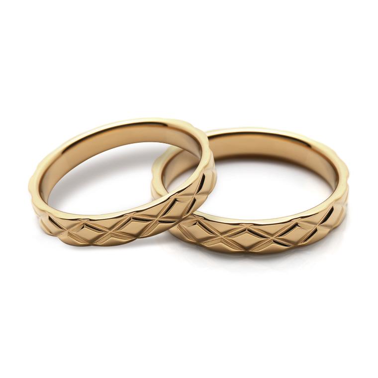 【マリッジリング(結婚指輪):レディース】 ※4週間前後でお届け18Kイエローゴールドリング