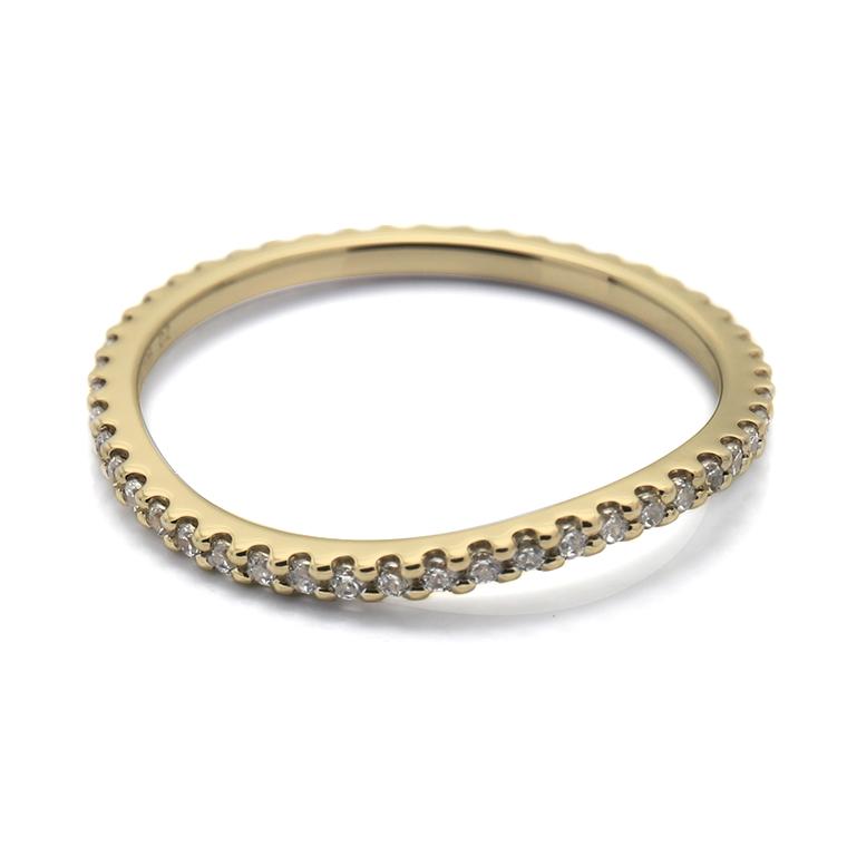 【マリッジリング(結婚指輪):レディース】【ウェーブフルエタニティ】18Kイエローゴールドダイヤモンドリング(0.22~0.26ct) KSIMA-003F ※4週間前後でお届け