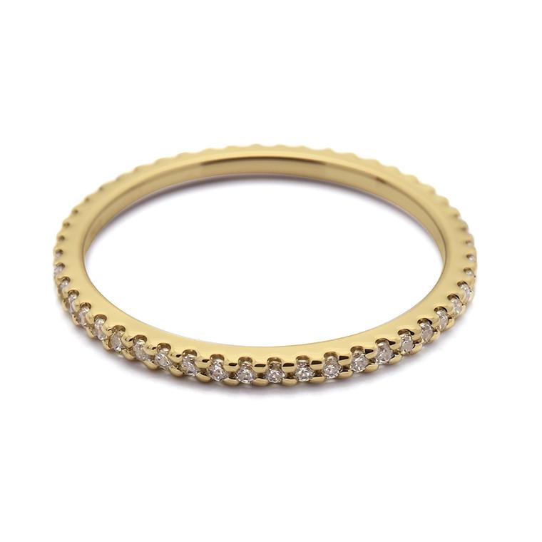 【マリッジリング(結婚指輪):レディース】【ストレートフルエタニティ】18Kイエローゴールドダイヤモンドリング(0.22~0.26ct) KSIMA-001F ※4週間前後でお届け