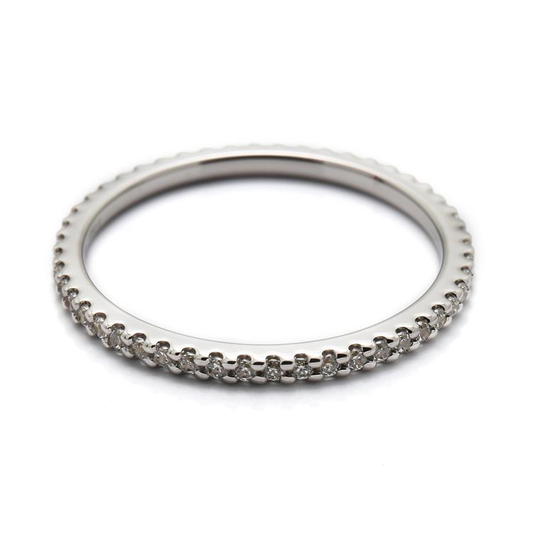 【マリッジリング(結婚指輪):レディース】【ストレートフルエタニティ】プラチナダイヤモンドリング(0.22~0.26ct) KSIMA-001F ※4週間前後でお届け
