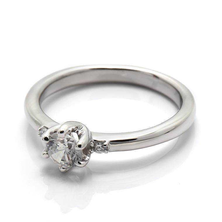 【エンゲージリング(婚約指輪)】18Kホワイトゴールドダイヤモンドリング(0.328ct) ISIEG-006 ※4週間前後でお届け