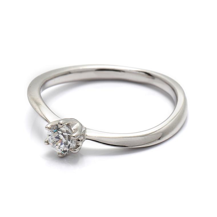 【エンゲージリング(婚約指輪)】18Kホワイトゴールドダイヤモンドリング(0.20ct) ISIEG-004 ※4週間前後でお届け