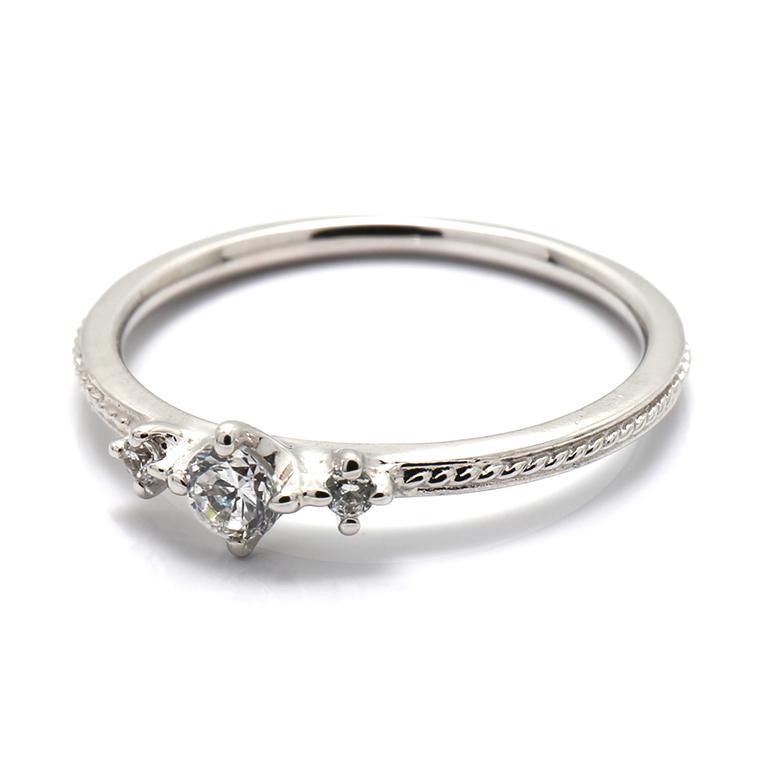 ISIEG-002 【エンゲージリング(婚約指輪)】プラチナダイヤモンドリング(0.128ct) ※4週間前後でお届け
