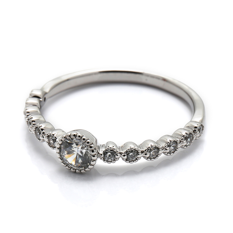【エンゲージリング(婚約指輪)】プラチナダイヤモンドリング(0.27ct) ISIEG-001 ※4週間前後でお届け