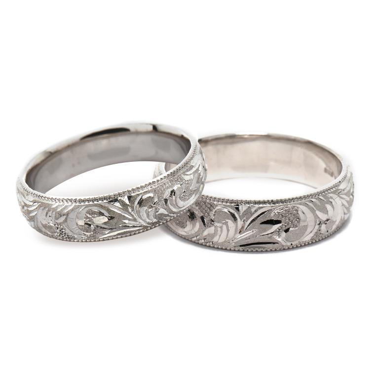【マリッジリング(結婚指輪):ハワイアン】【甲丸タイプ:大波-レディース-】プラチナ999リングISIHW-E ※4週間前後でお届け